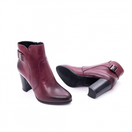 Botine elegante 172830CR bordo