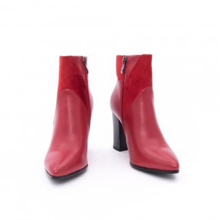 Botine elegante dama VN1734-2 red3