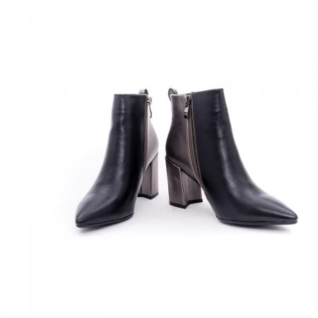 Botine elegante dama VN9239-3 black&pewter4