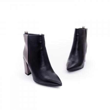 Botine elegante dama VN9239-3 black&pewter1
