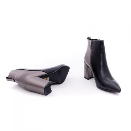 Botine elegante dama VN9239-3 black&pewter3