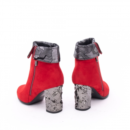 Botine elegante dama VN9375-2 Red