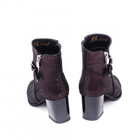 Botine elegante din piele naturala marca Nike Invest G 1151 grena lucios