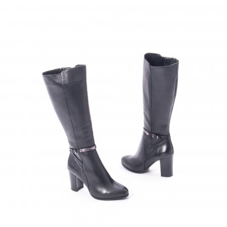 Cizme elegante dama din piele naturala Catali 172854 negru2