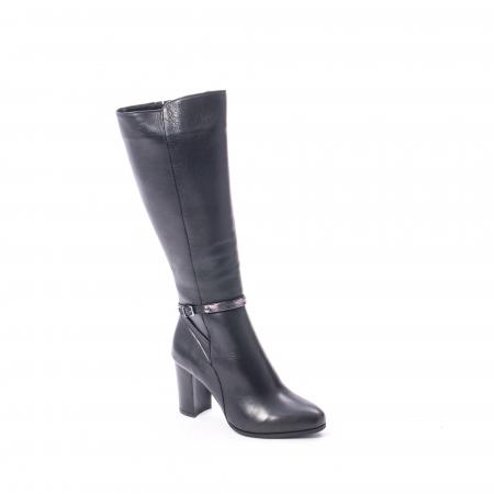 Cizme elegante dama din piele naturala Catali 172854 negru0