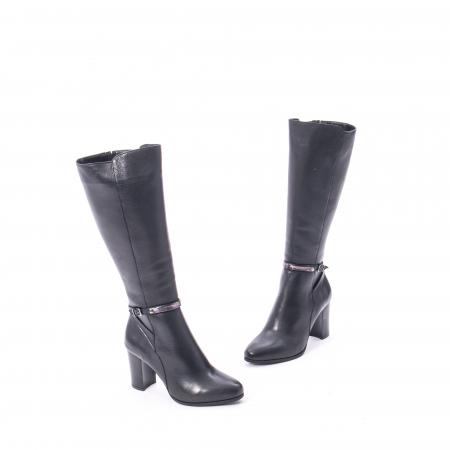 Cizme elegante dama din piele naturala Catali 172854 negru1