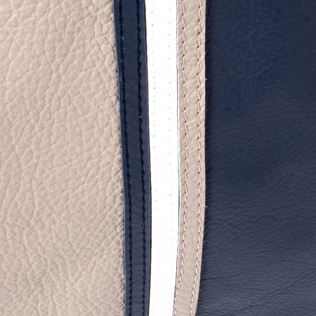 Geanta multicolora dama Tommy piele, bleumarin si gri5