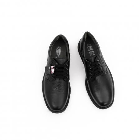 Pantofi barbati casual ,piele naturala Otter 2804, negru5