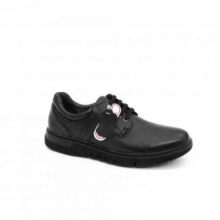 Pantofi barbati casual ,piele naturala Otter 2804, negru0