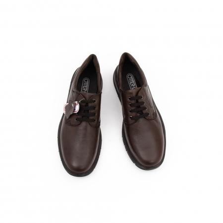Pantofi barbati casual piele naturala Otter 2804, maro4
