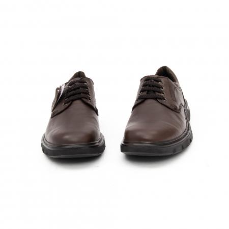 Pantofi barbati casual piele naturala Otter 2804, maro5