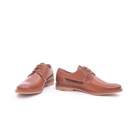 Pantof barbat casual LEOFEX,cod 845 cognac3