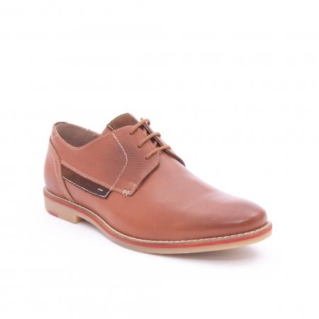 Pantof barbat casual LEOFEX,cod 845 cognac0