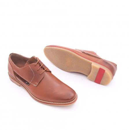 Pantof barbat casual LEOFEX,cod 845 cognac2