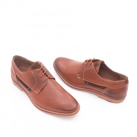 Pantof barbat casual LEOFEX,cod 845 cognac1