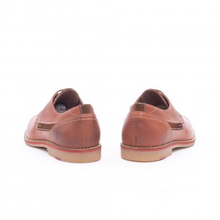 Pantof barbat casual LEOFEX,cod 845 cognac4