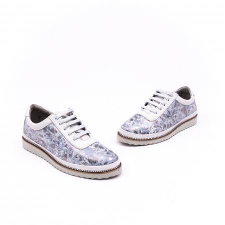 Pantof casual 171608 alb floral1