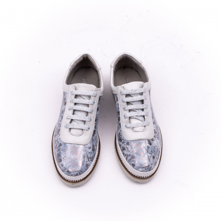 Pantof casual 171608 alb floral5