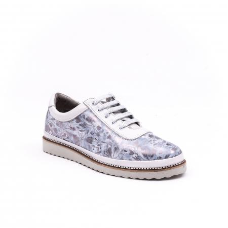 Pantof casual 171608 alb floral0