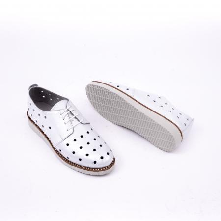 Pantof casual 191640 alb argintiu.2