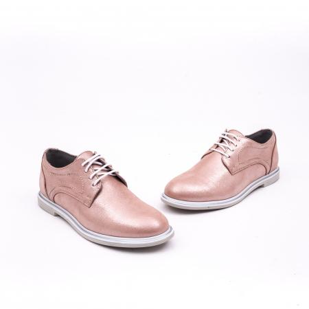 PantofI dama casual piele naturala, Catali-Shoes 191646, pudra1