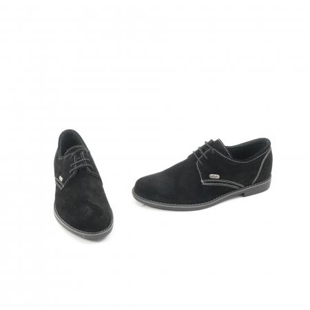 Pantof casual adolescent LFX 578 negru velur1