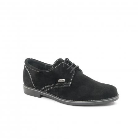 Pantof casual adolescent LFX 578 negru velur0