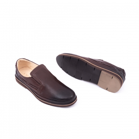 Pantofi barbati casual piele naturala, Catali 191537, maro2