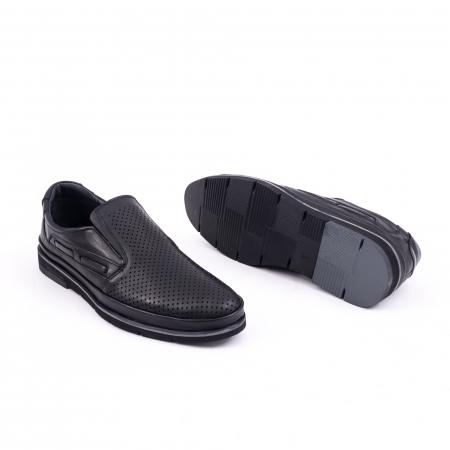 Pantofi barbati casual piele naturala, Catali 191537, negru2
