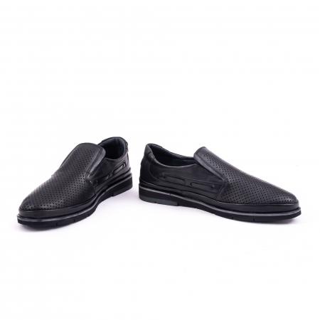 Pantofi barbati casual piele naturala, Catali 191537, negru4