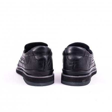 Pantofi barbati casual piele naturala, Catali 191537, negru6