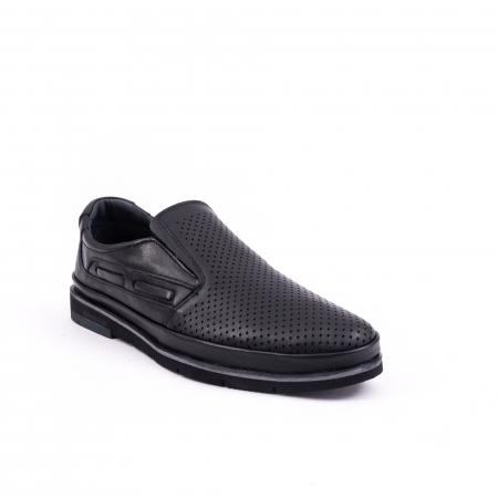 Pantofi barbati casual piele naturala, Catali 191537, negru0
