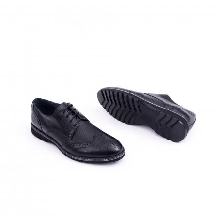 Pantof barbat model Oxford - CataliShoes 181584CR negru3