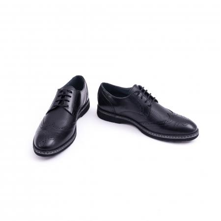 Pantof barbat model Oxford - CataliShoes 181584CR negru4