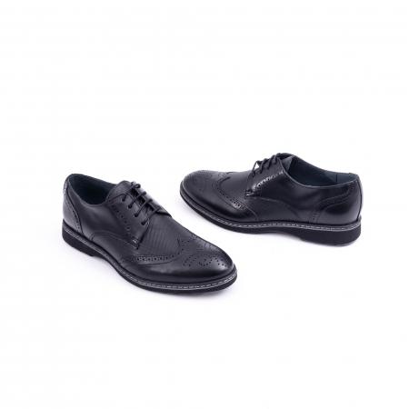Pantof barbat model Oxford - CataliShoes 181584CR negru1