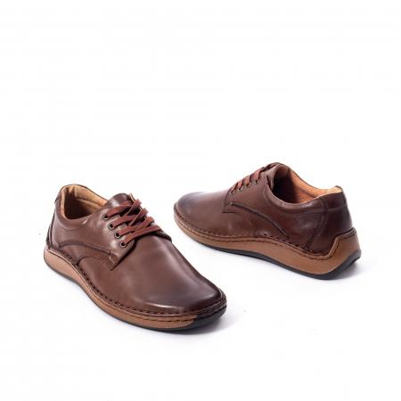 Pantofi Leofex 918 casual barbat piele naturala, maro2