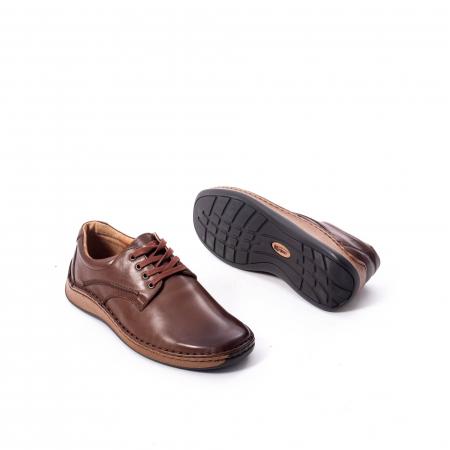 Pantofi Leofex 918 casual barbat piele naturala, maro3