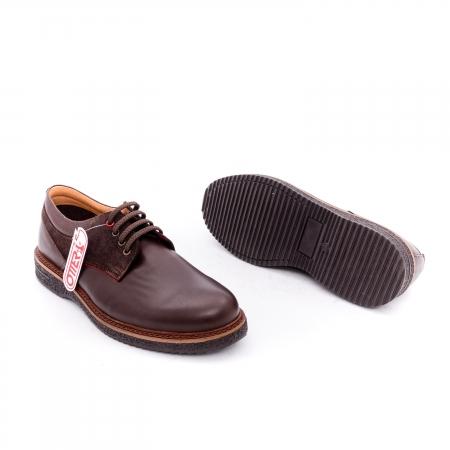 Pantofi barbati casual piele naturala Otter 020 C4 maro2