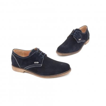 Pantof casual copii LFX 578 blue velur1