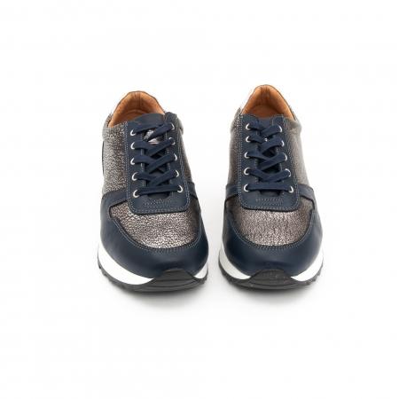 Pantof casual cu siret LFX 101 blue argintiu5