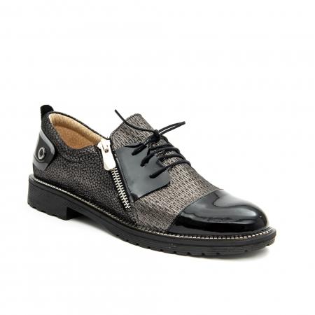 Pantof casual dama ,cod 1116 negru0