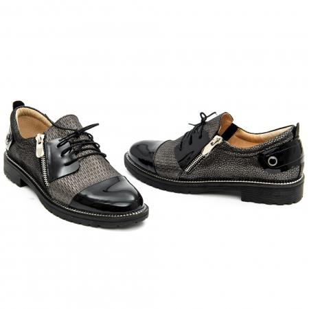 Pantof casual dama ,cod 1116 negru4