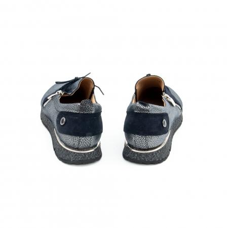 Pantof casual dama -cod 1118 blue-argintiu