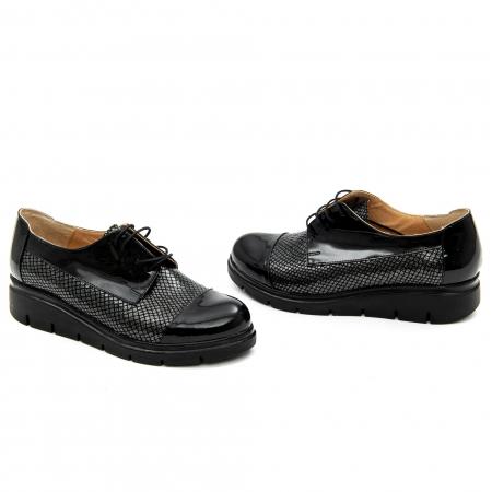 Pantof casual dama ,cod 1129 negru1