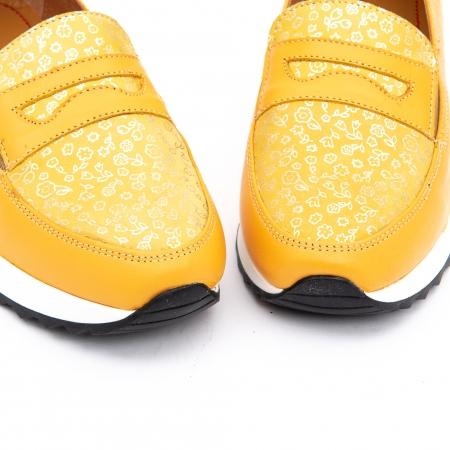 Pantof casual dama LFX 100 galben serigrafiat5