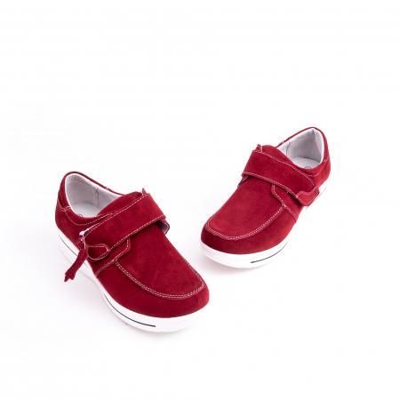 Pantof casual dama marca Angel Blue F002-56 burgundy suede4