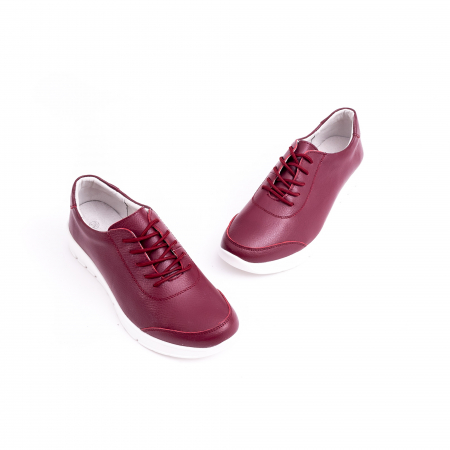 Pantof casual  Angel Blue VK-F001-442 burgundy leather3