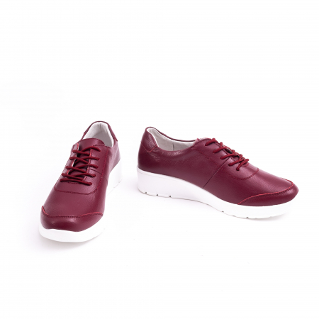 Pantof casual  Angel Blue VK-F001-442 burgundy leather4