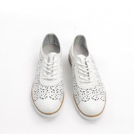 Pantof casual de vara 66626 alb