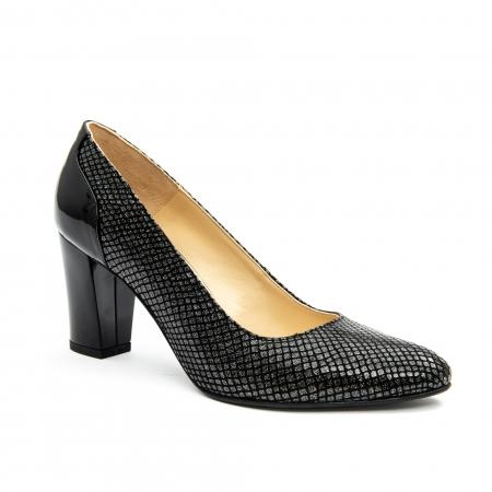 Pantofi dama eleganti piele naturala Nike Invest 953, negru